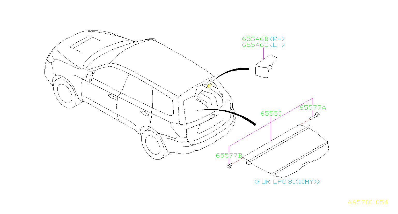Diagram TONNEAU COVER. for your Subaru Forester